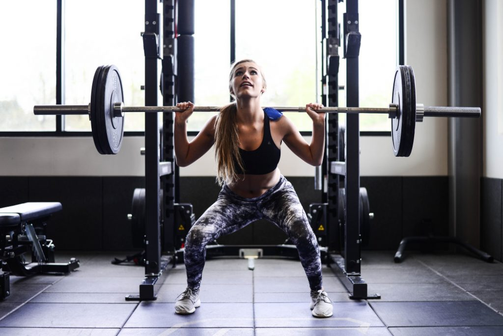 Girl squatting